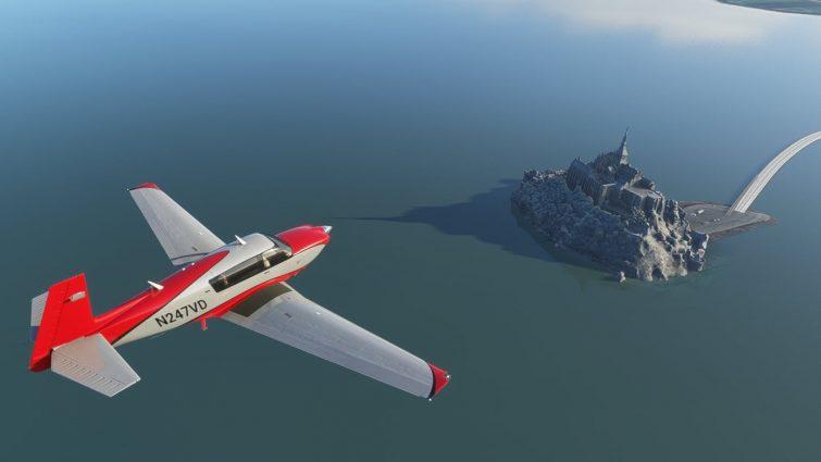 Avion survol du Mont-Saint Michel