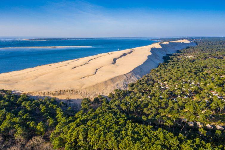Saut en parachute en France Dune du Pilat