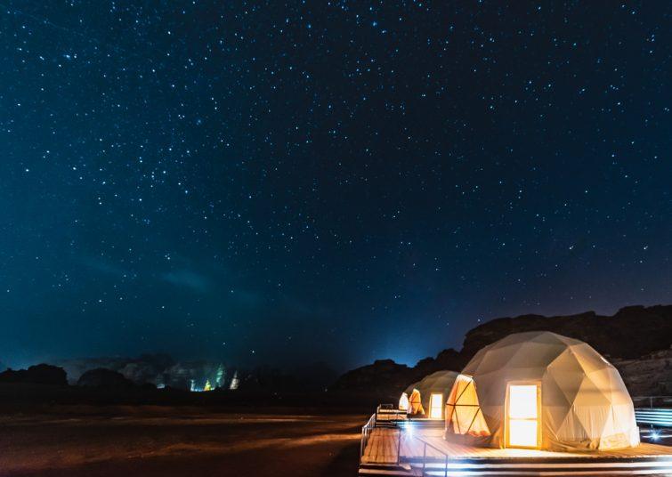 Dormir sous les étoiles désert Jordanie
