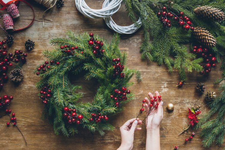 Fabriquer sa couronne de Noël