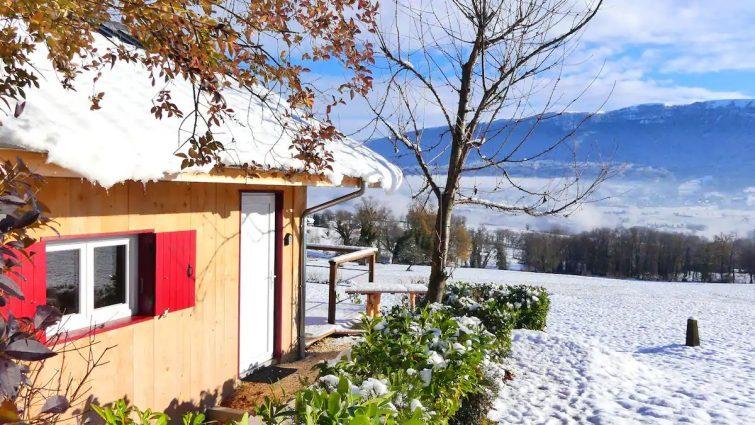 L'Orée des Bauges, petit chalet face aux montagnes - week-end insolite à Annecy