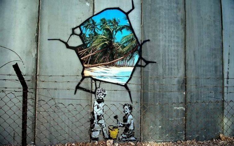 Mur honte Banksy visiter Bethléem