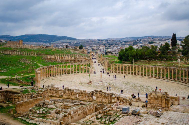 Place Ovale visiter Jerash