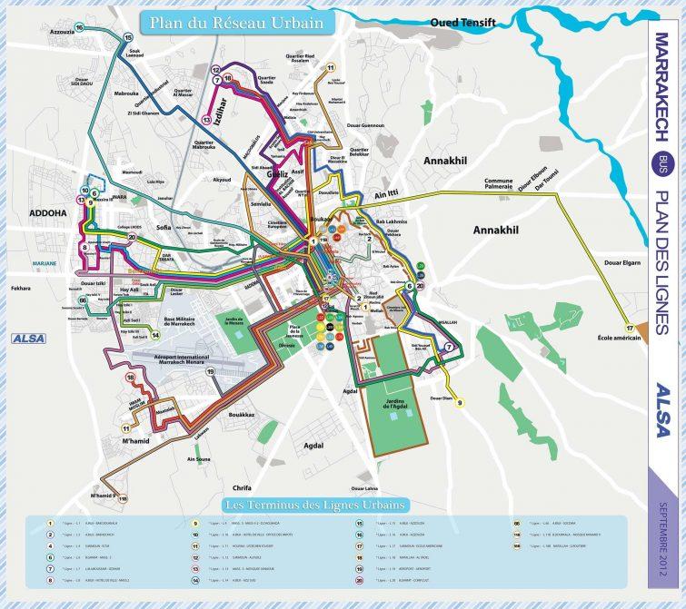 réseau transport Marrakech