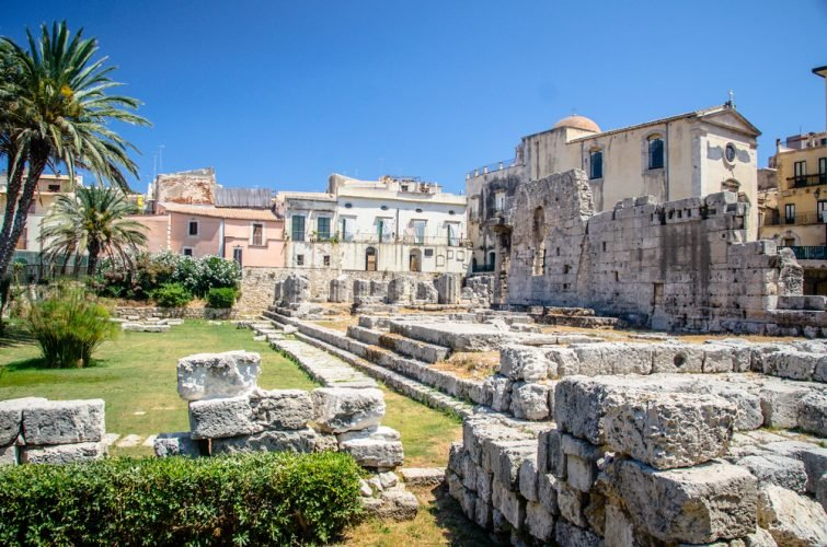 Ruines du temple d'Apollon, Syracuse
