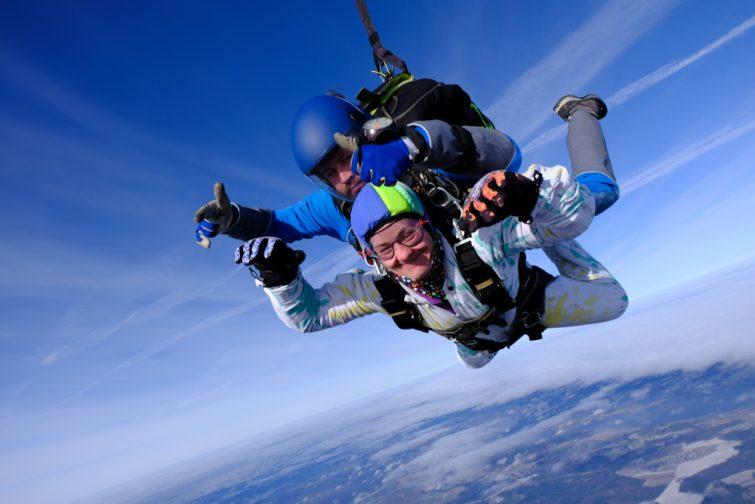 Saut en parachute Week-end insolite en amoureux en Bourgogne