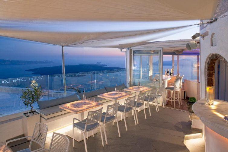 Mylos Bar Restaurant sortir à Santorin