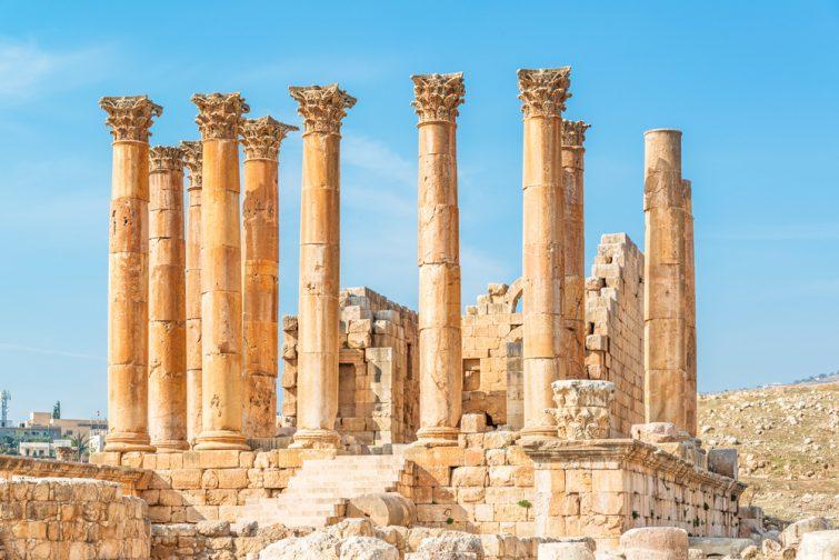 Temple Artémis visiter Jerash