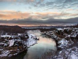 Abisko canyon sunset Sweden