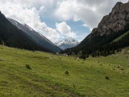 Landscape altyn arashan kyrgyzstan