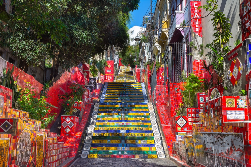 photos brésil - Les fameux Selaron Staircase, à Rio de Janeiro