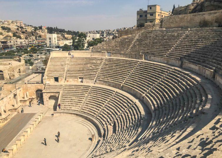 Visiter le théâtre romain d'Amman