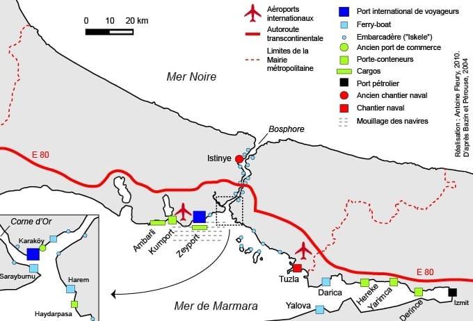 Plan détaillé des aéroports Istanbul