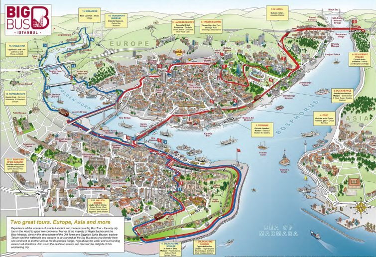 Carte générale d'Istanbul