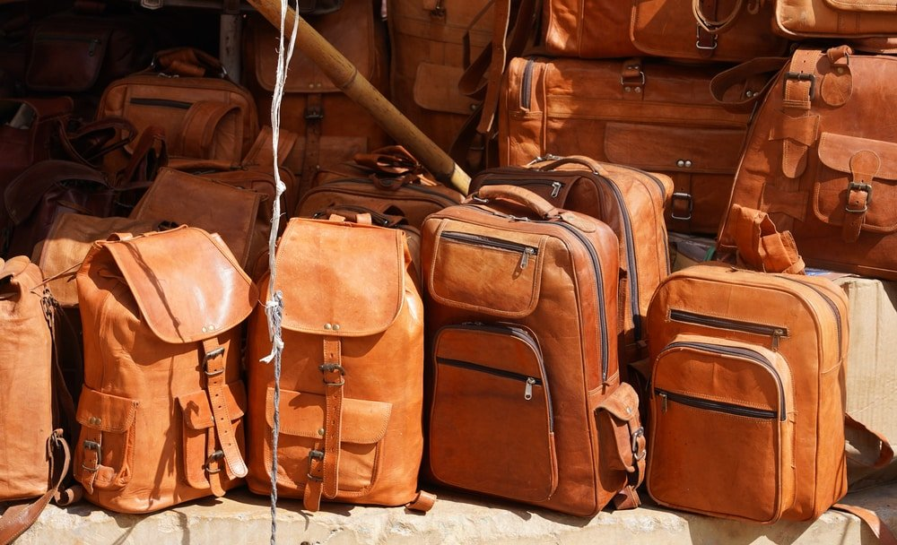 Le quartier du cuir au Grand Bazar