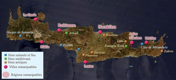 lieux touristiques crète