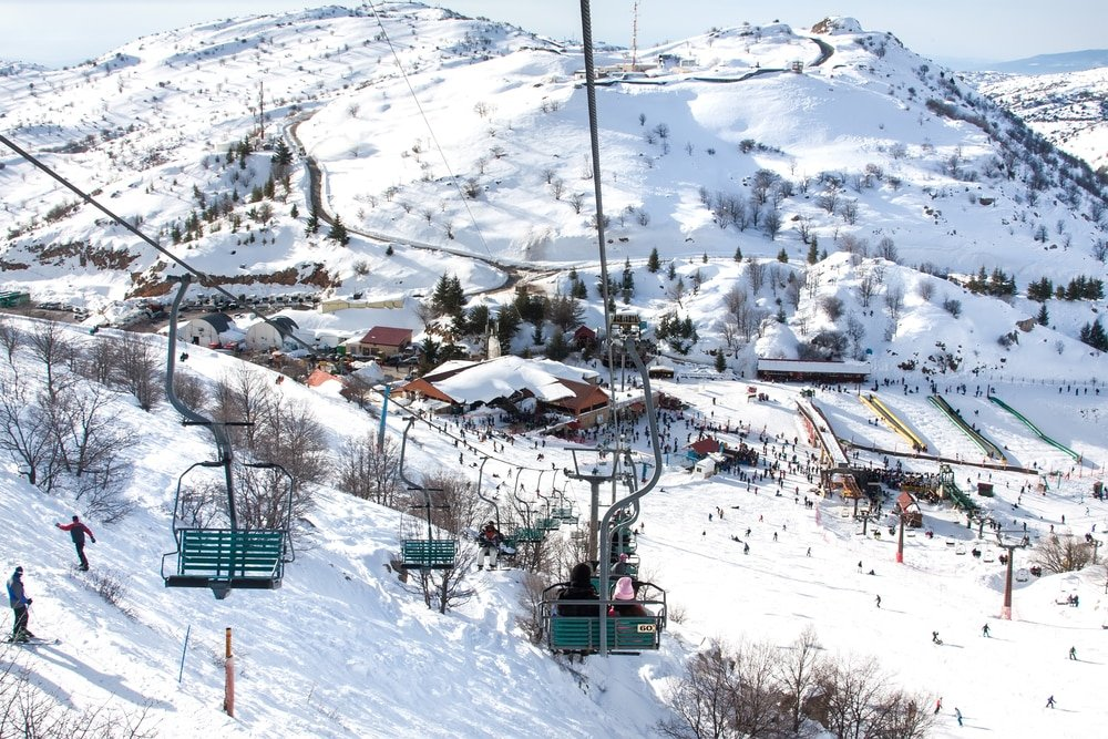 Aller skier au Mont Hermon