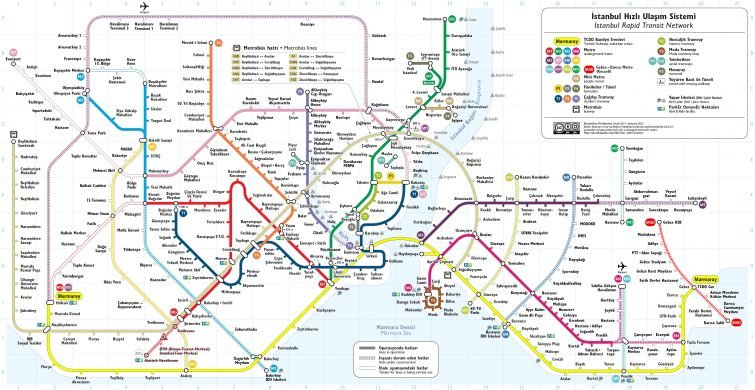 Plan transport Istanbul