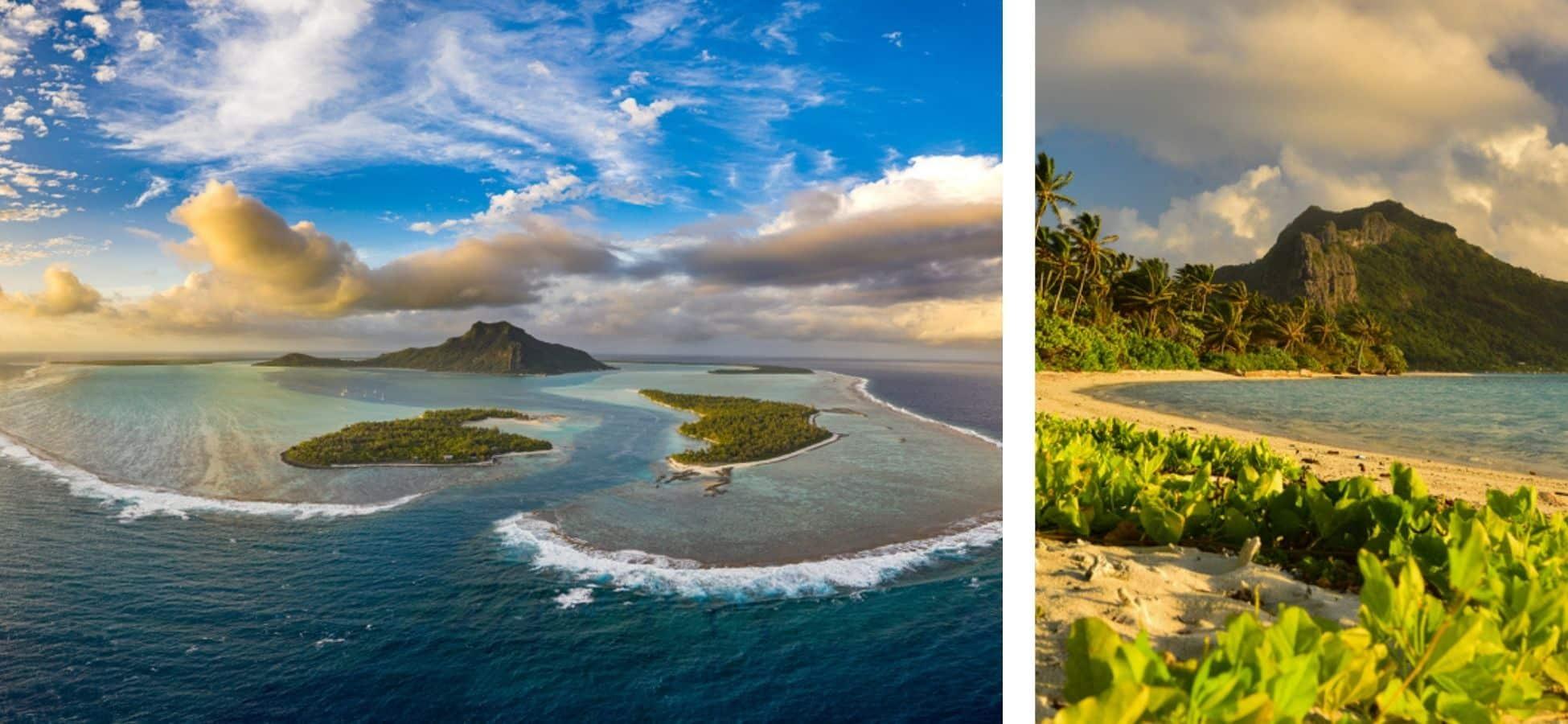 L'île de Maupiti dans le Pacifique