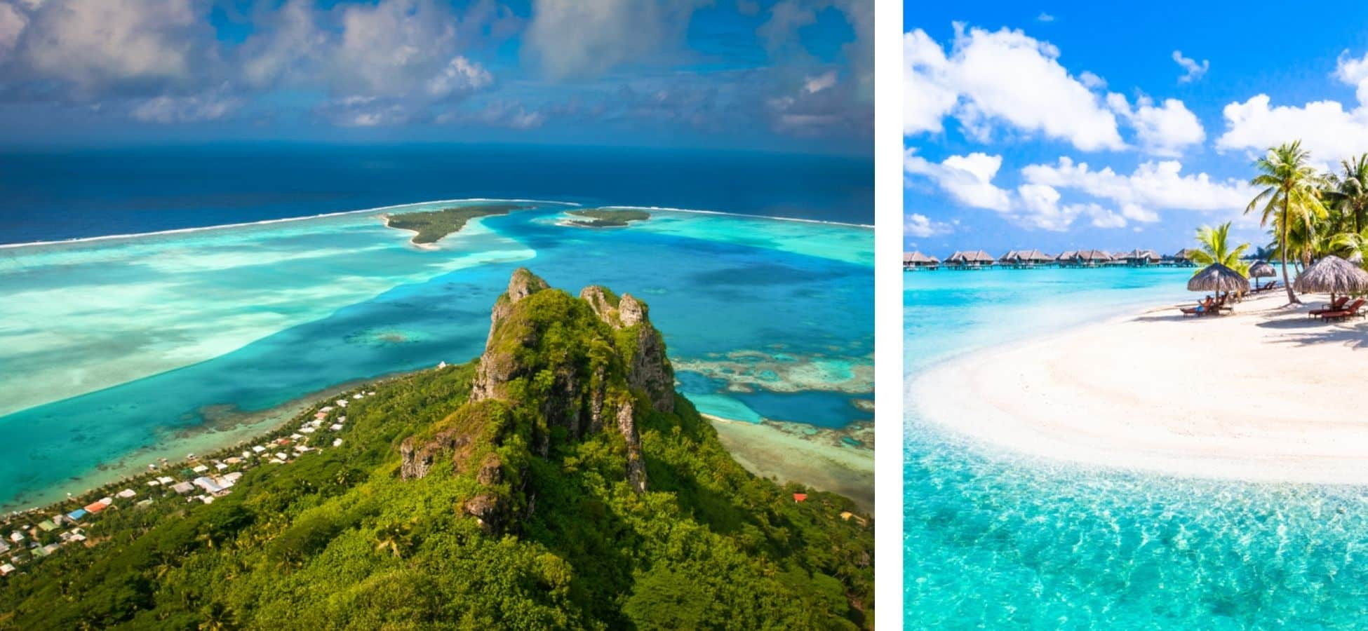 Magnifiques paysages en Polynésie Française