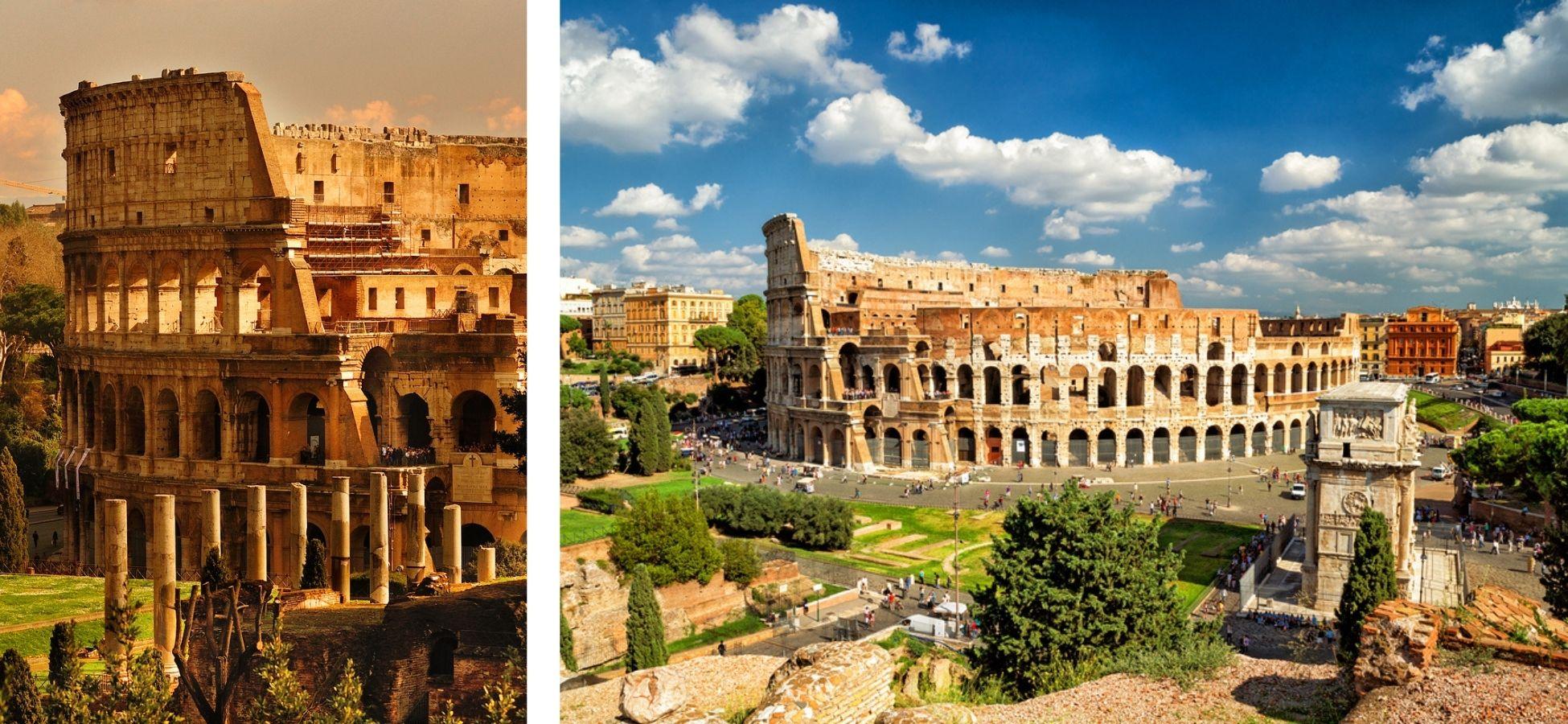 Colisée de Rome - sites archéologiques italie