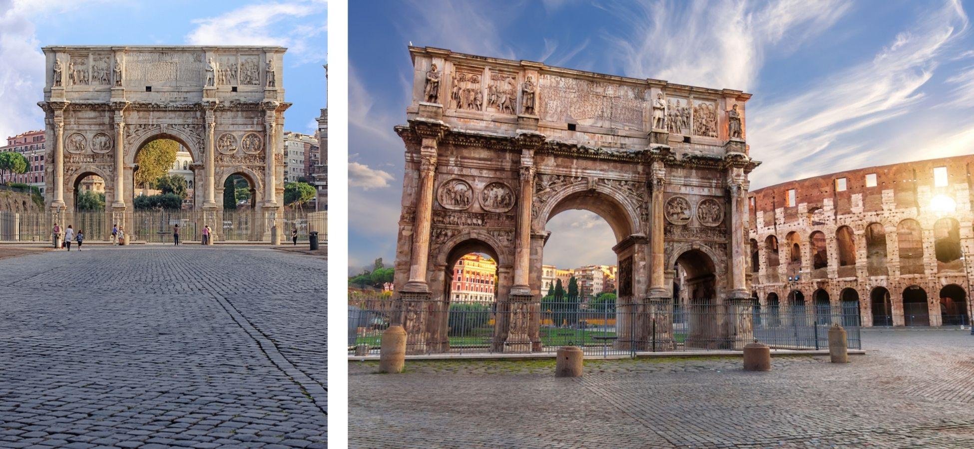 Arc Constantin - sites archéologiques italie