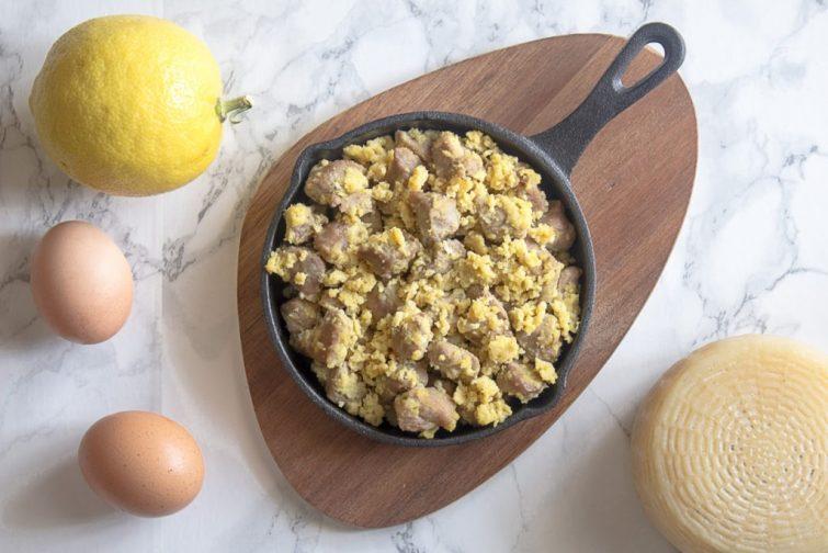 agnello cacio e uova