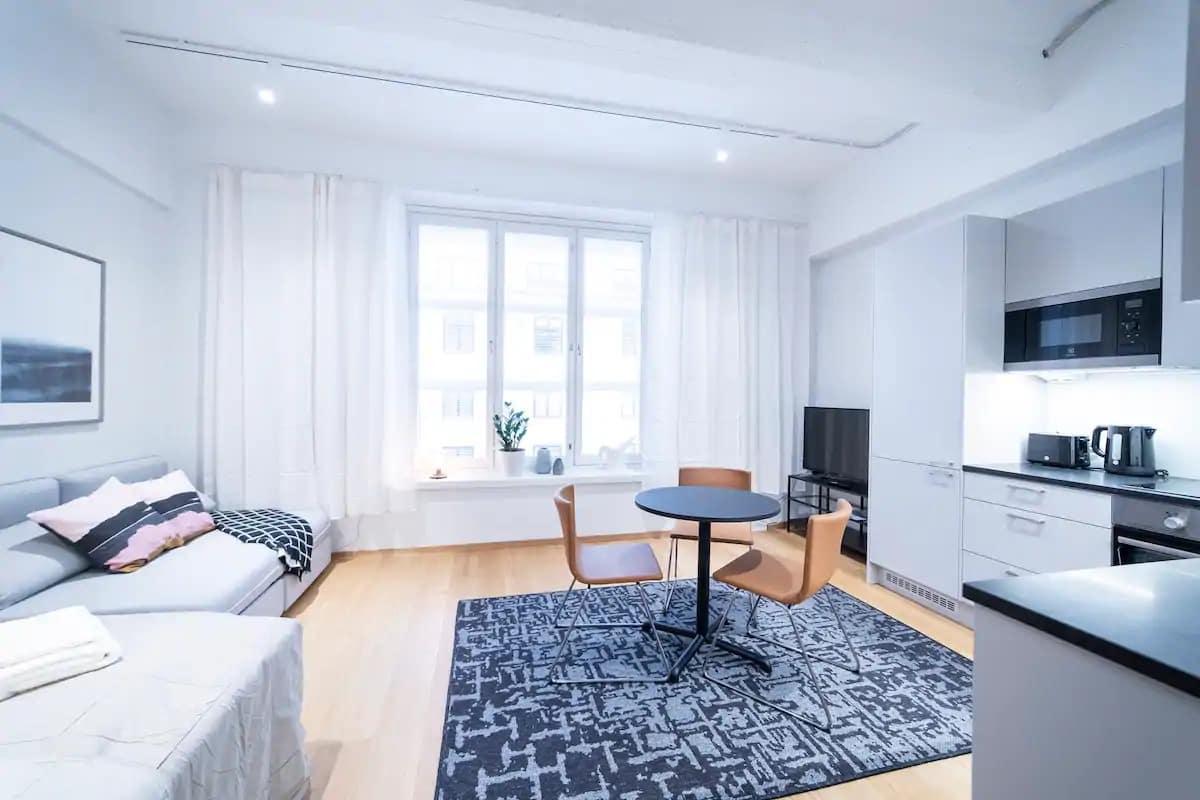 Studio de style loft pour 3 au centre