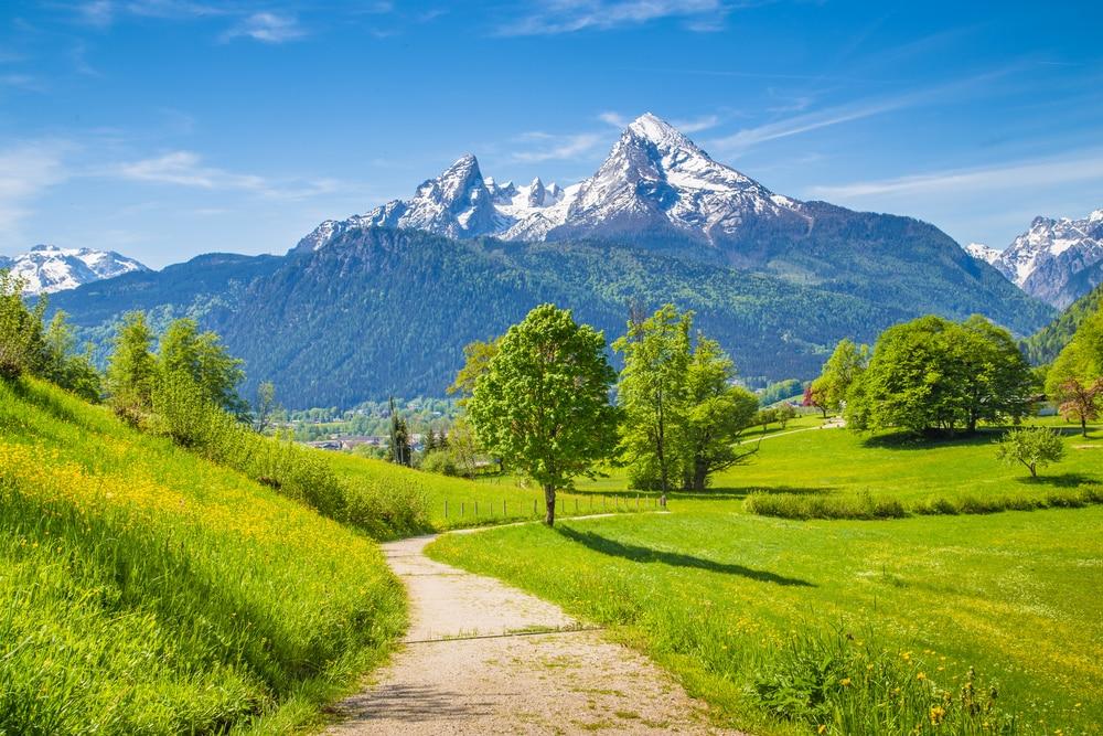 Beau paysage en Bavière