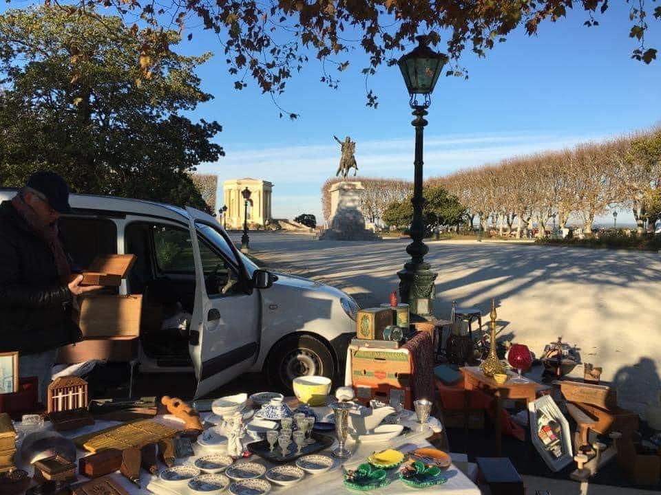 Les Dimanches du Peyrou, brocante à Montpellier