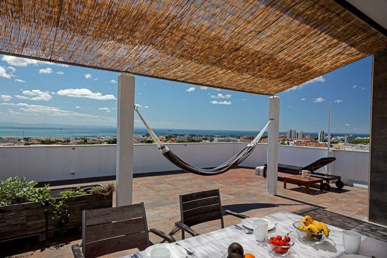 Studio avec rooftop, vue mer