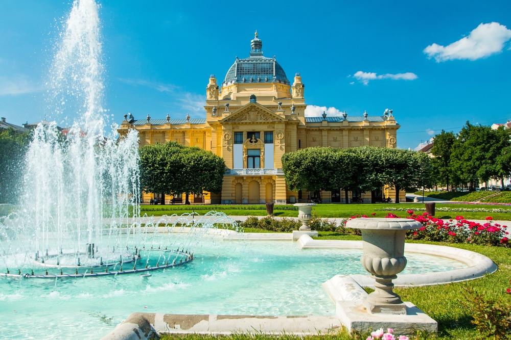 Le Pavillon d'Art de Zagreb en Croatie