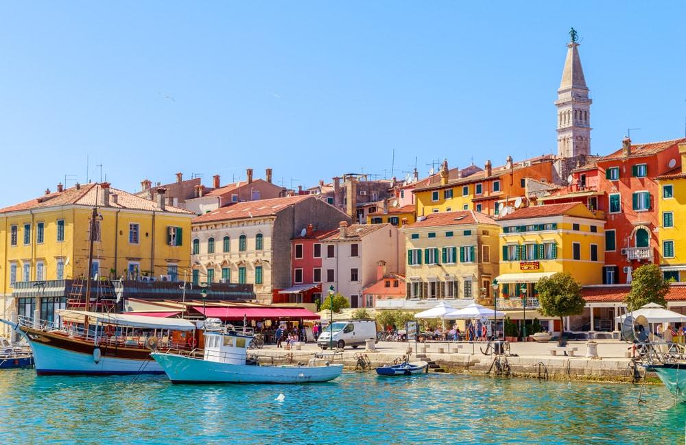 La jolie ville de Rovinj en Croatie