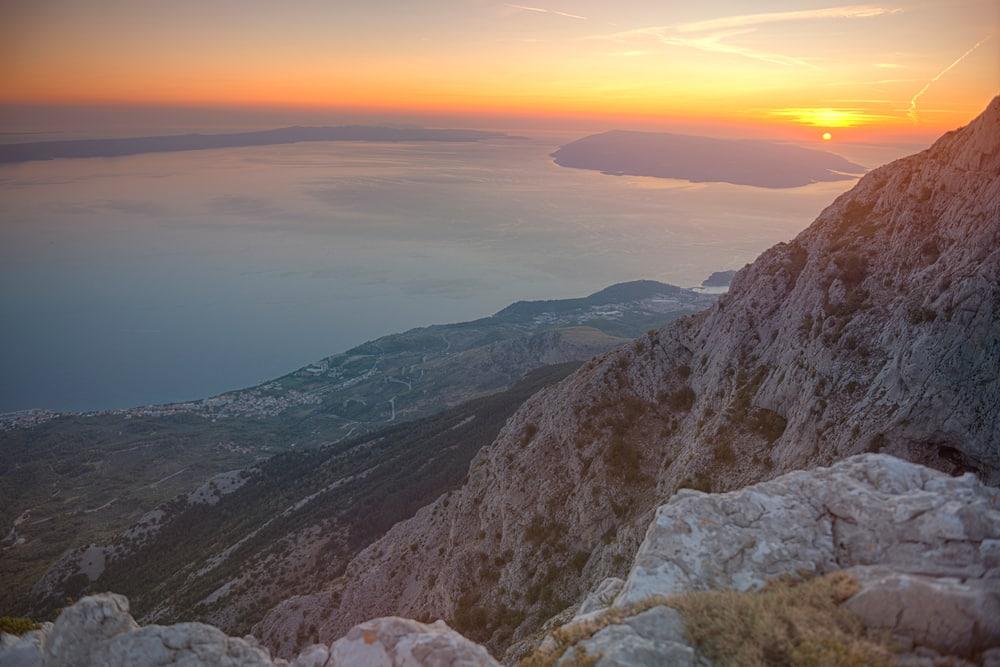 Vue sur les côtes en Croatie