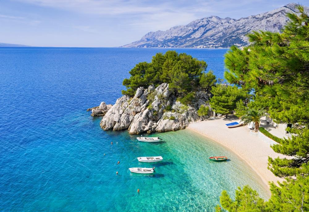 Superbe plage en Dalmatie