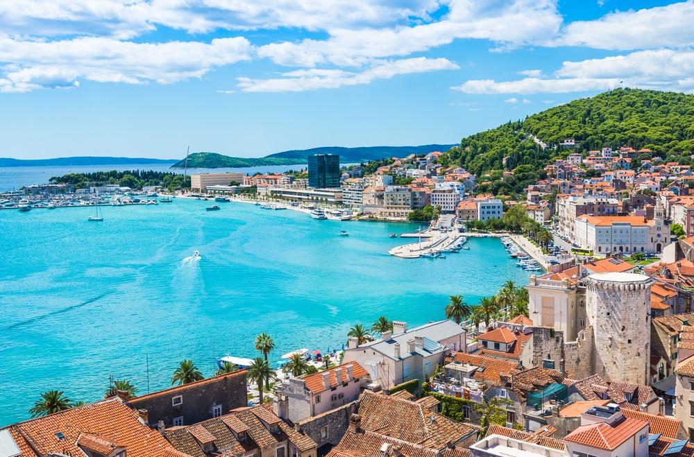 Vue sur la ville de Split en Croatie
