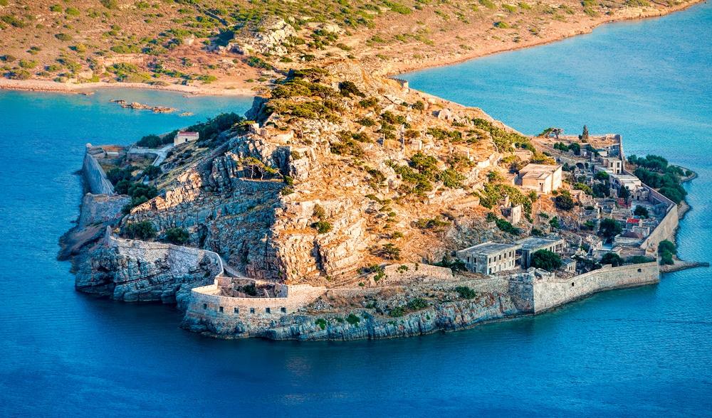 L'île de Spinalonga proche d'Héraklion