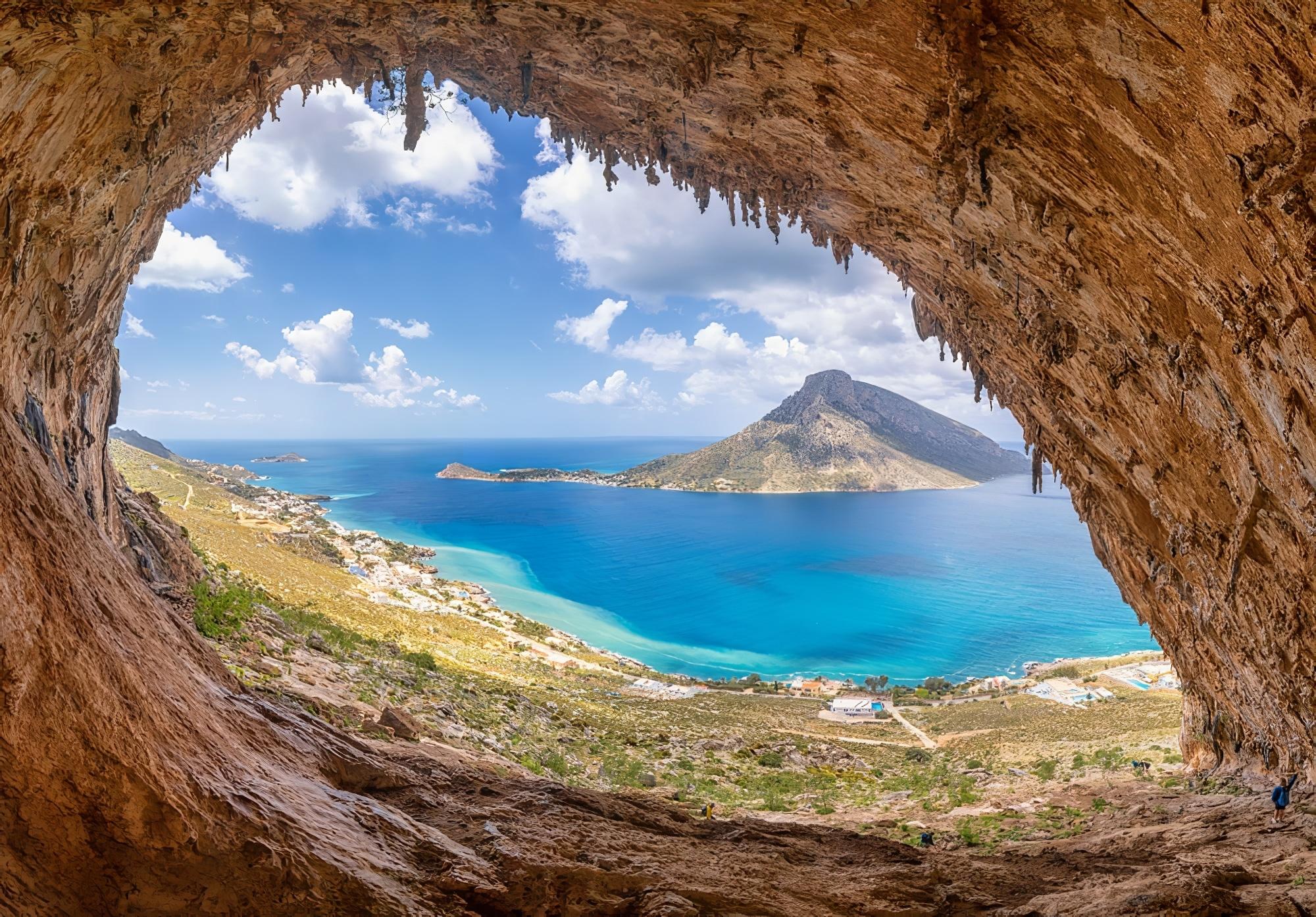 Vue sur l'île de Telendos