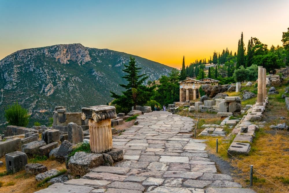 Ruines du temple d'Apollon près de Kalymnos