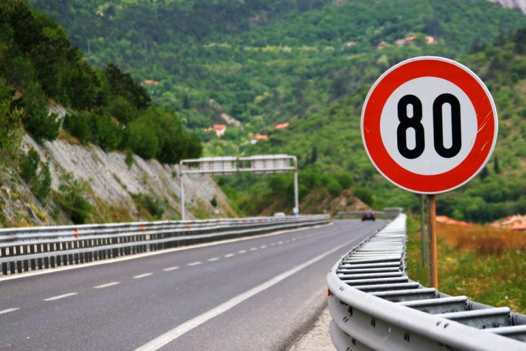 Limitations de vitesse en Italie