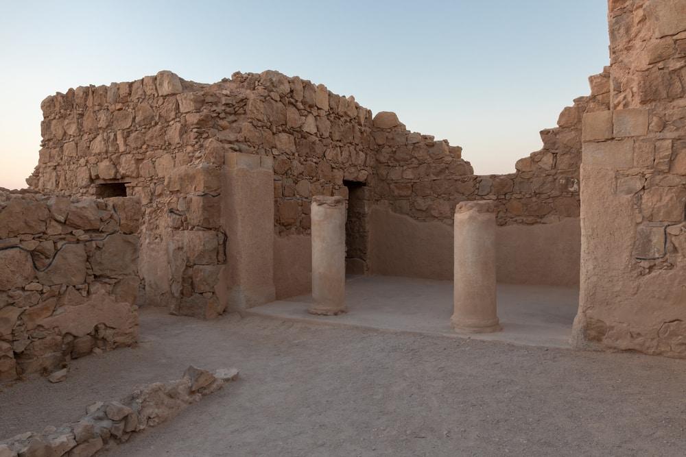 Les ruines de Massada