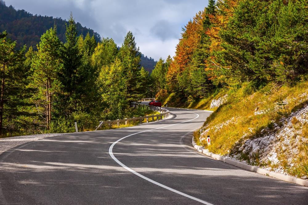 Jolie route de montagne