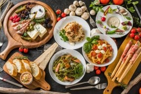 Repas traditionnel italien