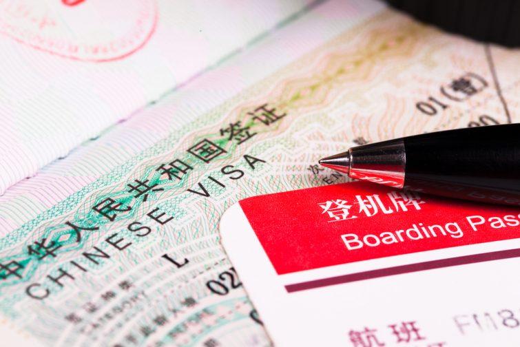Visa obligatoire pour la Chine
