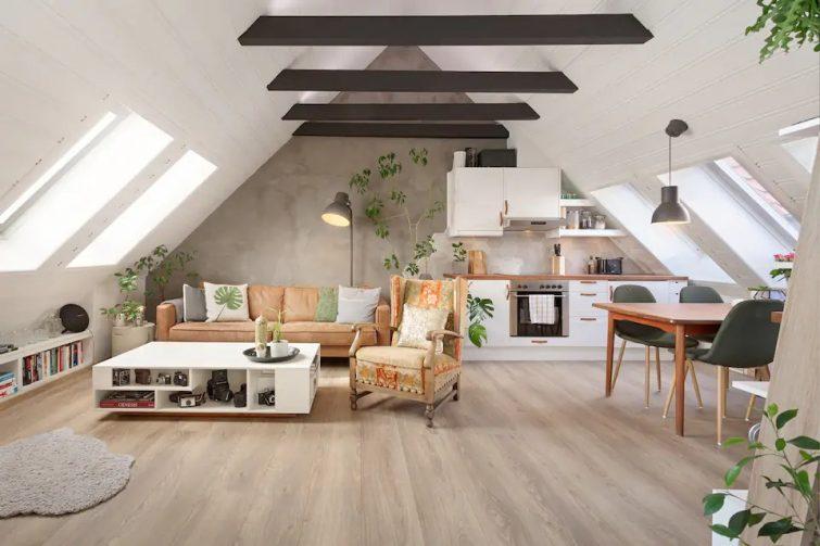 Appartement moderne et mansardé