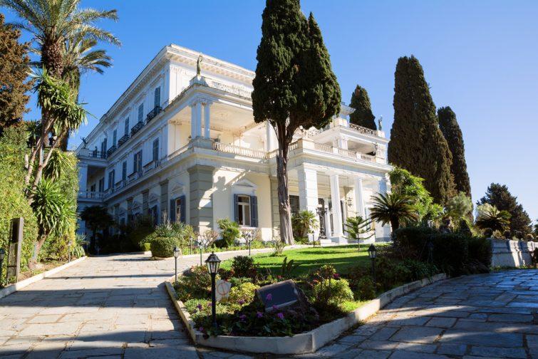 Gastouri, le palais de Sissi et Petriti