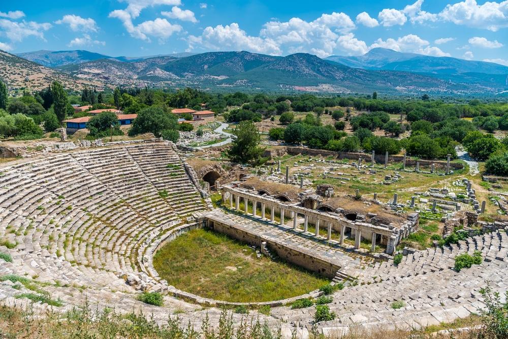 Le Théâtre de l'ancienne ville des Aphrodisias, Aydin, Turquie
