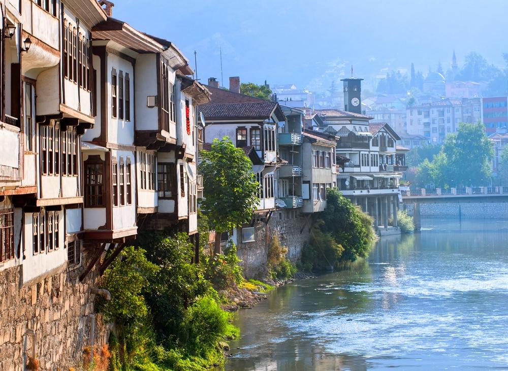 Maisons ottomanes traditionnelles à Amasya, Turquie