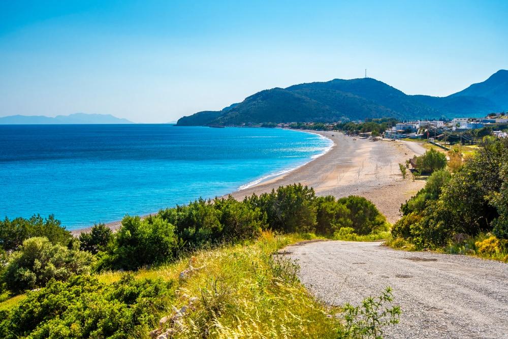 Palamutbuku Beach view in Datca Peninsula of Turkey