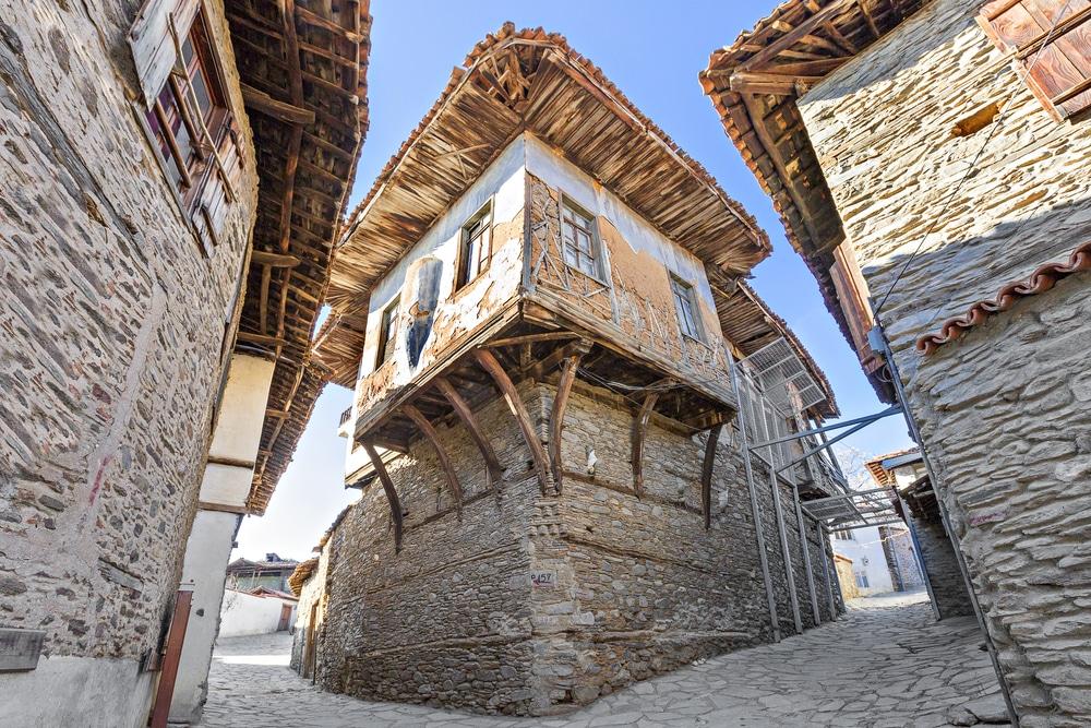Vieille maison de village à Birgi, Izmir, Turquie